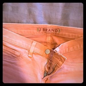 J Brand Light Salmon Colored Mid Rise Skinny Pant